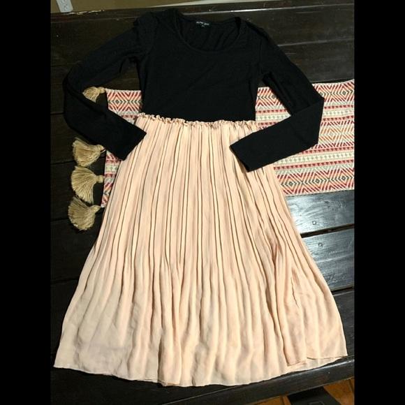 Sister Jane pink pleated midi dress XS